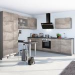 Winkelküche BASE B12 E-Geräte 290 x 300 cm von Express Küchen Beton Hell