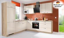 Winkelküche STAR 238 inkl E-Geräte 235 x 265 cm von Express Küchen Crema / Bergeiche