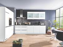 Winkelküche STAR S23 E-Geräte 180 x 300 cm von Express Küchen Weiss HG Schwarz