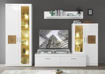 Wohnwand Juno von Innostyle Weiß/Hirnholz
