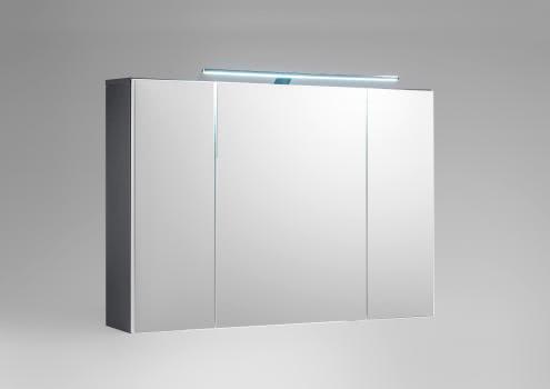 Bad-Spiegelschrank inkl LED Beleuchtung MANHATTAN von Bega Weiss HG / Grau