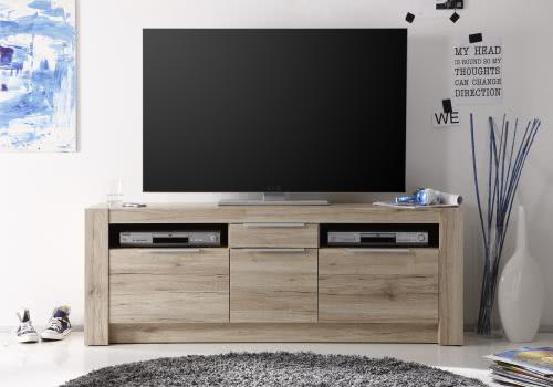 tv unterschrank cougar von trendteam eiche san remo hell. Black Bedroom Furniture Sets. Home Design Ideas