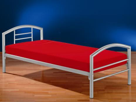 90x200 einzelbett arena von reality import silber a. Black Bedroom Furniture Sets. Home Design Ideas