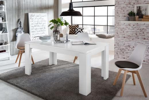 esstisch ausziehbar universal von trendteam weiss. Black Bedroom Furniture Sets. Home Design Ideas