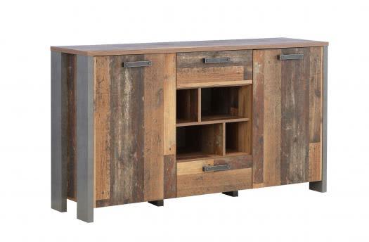 Sideboard 2-trg CLIF von Forte Old-Wood Vintage / Beton