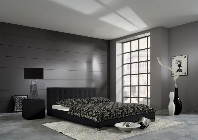 100x200 Polsterbett SANDRA von Meise Möbel Kunstleder schwarz