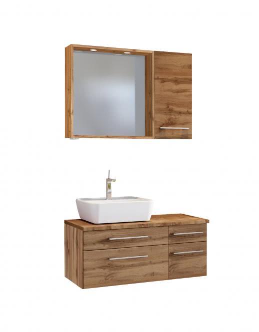 Waschtisch-Set 90 -D- Becken links Davos von Held Möbel Wotan Eiche