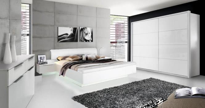 180x200 Bettanlage inkl aufklappbarer Fußbank Starlet Plus von Forte Weiss Hgl