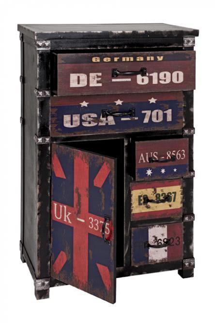 Kommode 27995 von HAKU Schwarz / Vintage