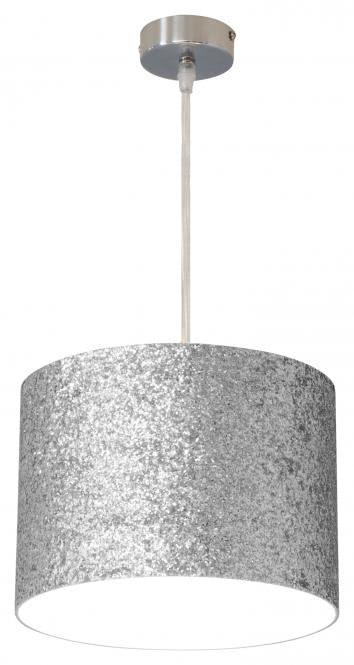 Pendelleuchte 1-flg ASTRA von Nino Nickel / Schirm silberfarbig