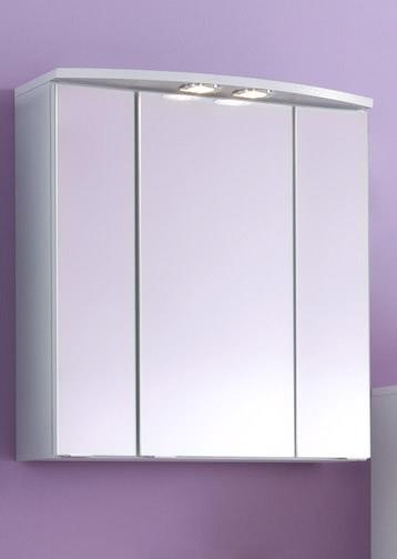 3D-Spiegelschrank 60 inkl LED Strahler Parma von Held Möbel Weiß