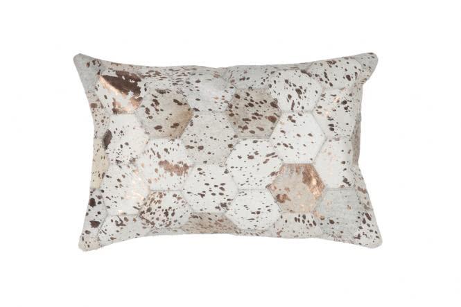 40x60 Kissen Spark Pillow 210 Elfenbein / Chrom von Kayoom