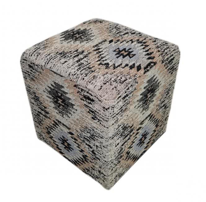 42x45 Kissen Solitaire Pouf 210 Grau von Kayoom