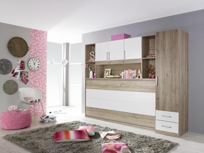 Schlafzimmer 3-tlg Albero Extra von Rauch Packs mit KS ca. 91 cm alpinweiß / grau