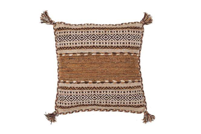 45x45 Kissen Alhambra Pillow 335 Braun von Kayoom