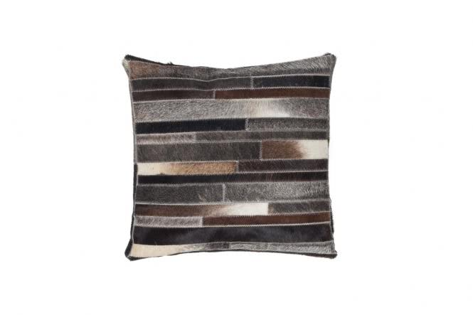 45x45 Kissen Lavish Pillow 110 Grau-Braun von Kayoom