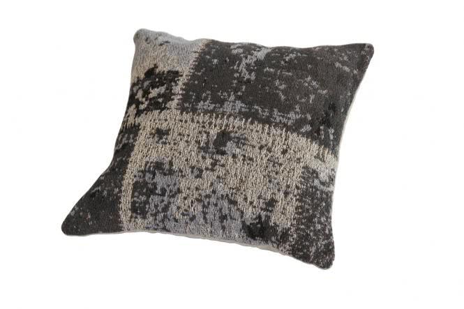 45x45 Kissen Matrix Pillow 110 Schwarz / Grau von Kayoom