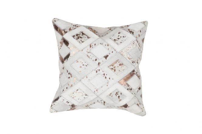 45x45 Kissen Spark Pillow 110 Elfenbein / Chrom von Lalee