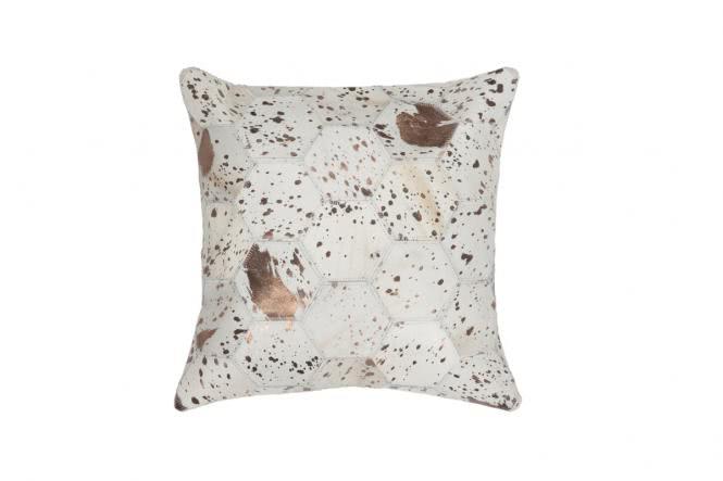 45x45 Kissen Spark Pillow 210 Elfenbein / Chrom von Kayoom