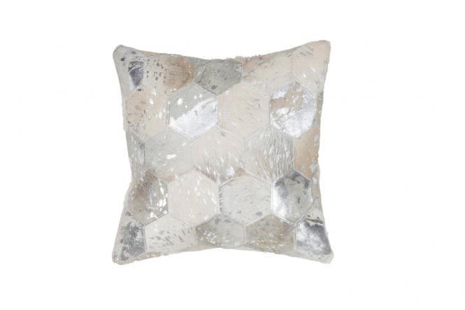 45x45 Kissen Spark Pillow 210 Grau / Silber von Lalee