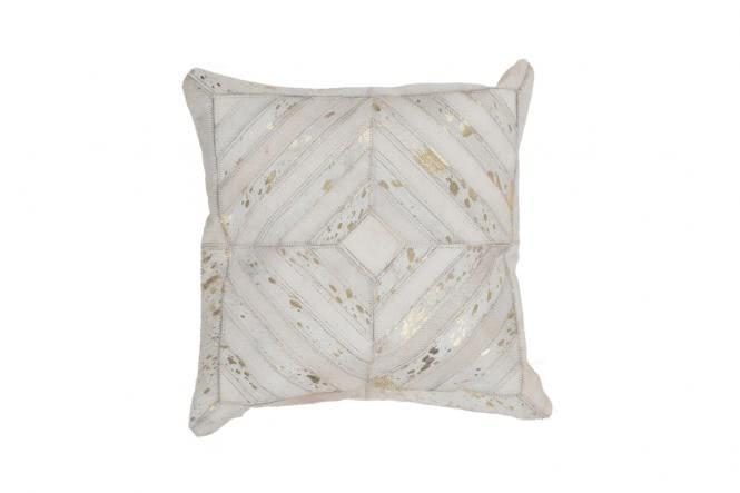 45x45 Kissen Spark Pillow 410 Elfenbein / Gold von Kayoom