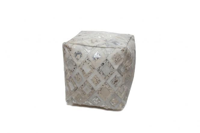 45x45 Kissen Spark Pouf 100 Grau / Silber von Kayoom