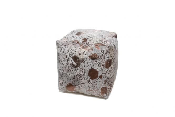 45x45 Kissen Spark Pouf 200 Elfenbein / Chrom von Lalee