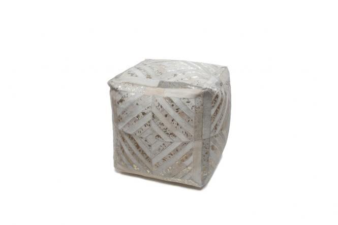 45x45 Kissen Spark Pouf 400 Elfenbein / Gold von Lalee