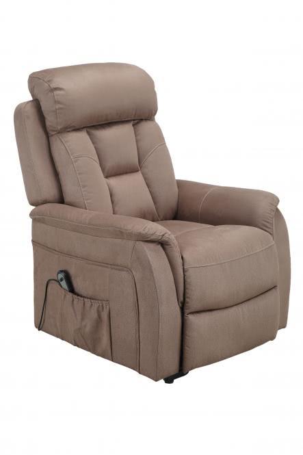 TV-Sessel einmotorisch inkl Aufstehhilfe u Relaxfunktion FM-513L von FEMO Hellbraun