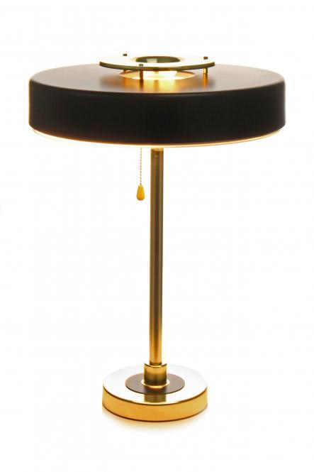 Tischlampe Phobos 110 Schwarz / Gold von Kayoom