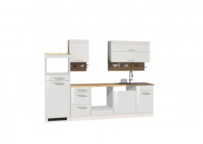 Leerblock 280 für Geschirrspüler/Mikrowelle MAILAND von Held Möbel Weiss / Eiche Sonoma