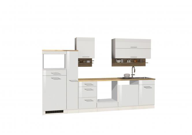 Leerblock 310 für Geschirrspüler/Mikrowelle MAILAND von Held Möbel Weiss / Eiche Sonoma