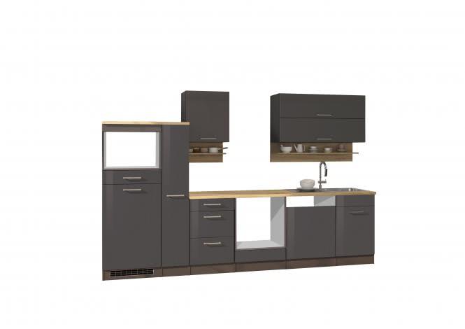 Leerblock 310 für Geschirrspüler/Mikrowelle MAILAND von Held Möbel Graphit / Eiche Sonoma