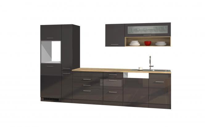 Leerblock 330 für Geschirrspüler (10 tlg) MAILAND von Held Möbel Graphit / Eiche Sonoma