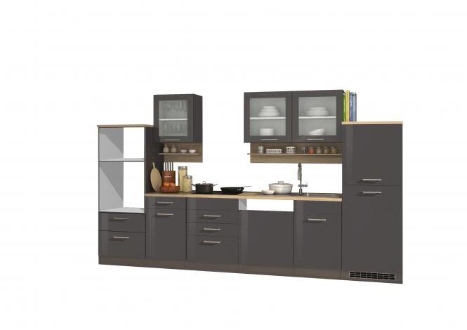 Leerblock 340 für Geschirrspüler/Mikrowelle MAILAND von Held Möbel Graphit / Eiche Sonoma