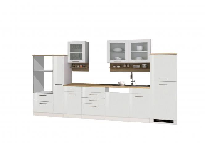 Leerblock 370 für Geschirrspüler/Mikrowelle MAILAND von Held Möbel Weiss / Eiche Sonoma