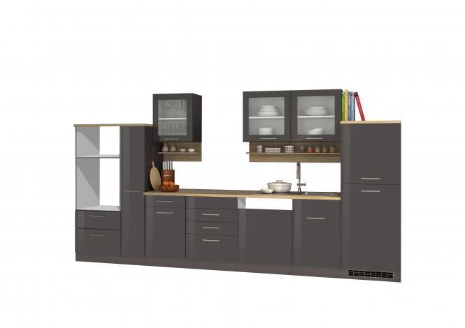 Leerblock 370 für Geschirrspüler/Mikrowelle MAILAND von Held Möbel Graphit / Eiche Sonoma