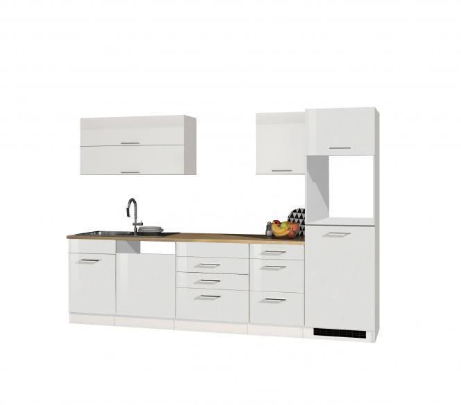 Leerblock 300 für Geschirrspüler/Kühlschrank MAILAND von Held Möbel Weiss / Eiche Sonoma