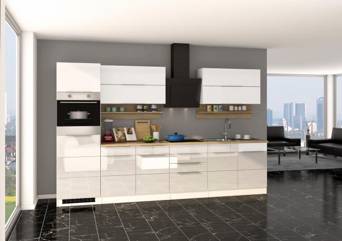 Küchenblock inkl E-Geräte 320 cm breit NEAPEL 3...