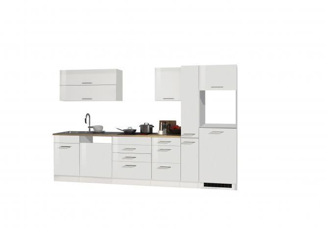Leerblock 330 für Geschirrspüler/Kühlschrank MAILAND von Held Möbel Weiss / Eiche Sonoma