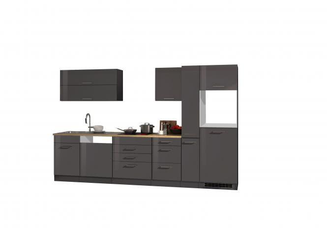 Leerblock 330 für Geschirrspüler/Kühlschrank MAILAND von Held Möbel Graphit / Eiche Sonoma