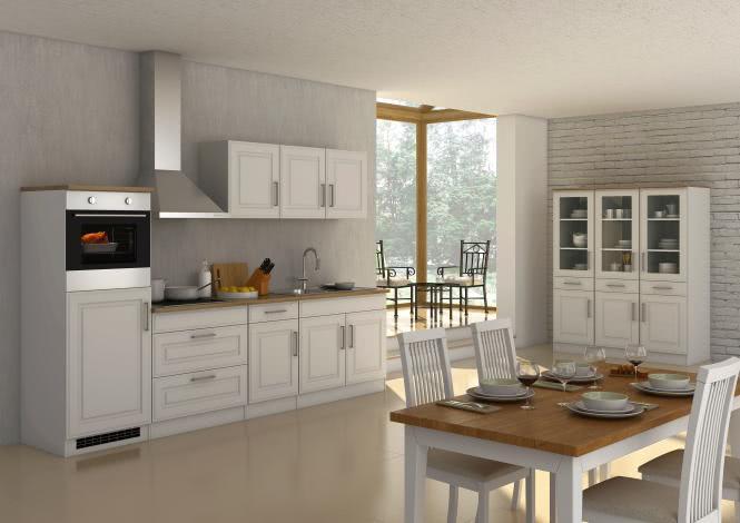 Küchenblock inkl E-Geräte 290 cm breit ROM 290 ...