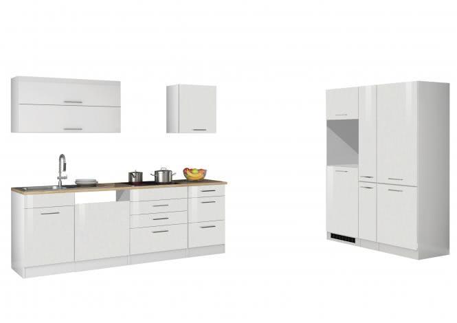 Leerblock 390 für Geschirrspüler/Kühl-/Gefrierkombi MAILAND von Held Möbel Weiss / Eiche Sonoma