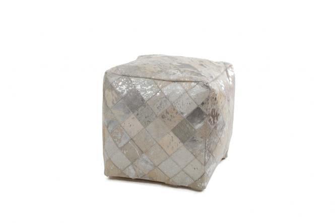 45x45 Kissen Lavish Pouf 210 Grau / Silber von Kayoom