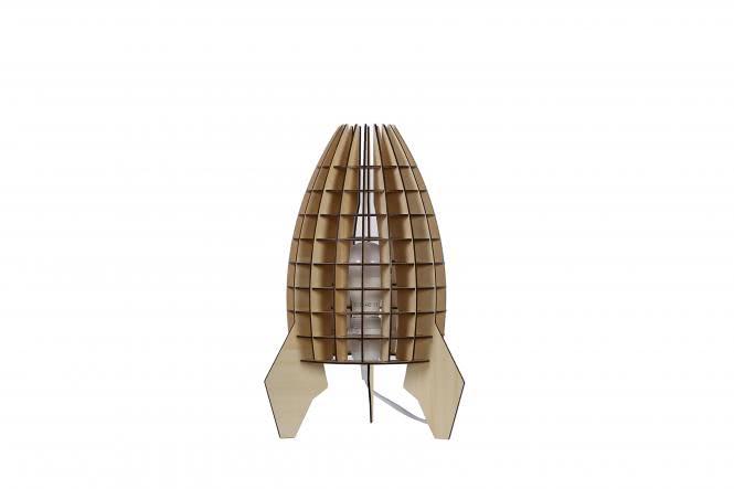 Tischlampe Aviator Holz von Kayoom