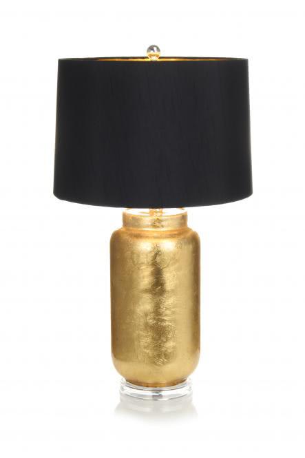Tischlampe / Stehlampe Destiny 110 Schwarz / Gold von Kayoom