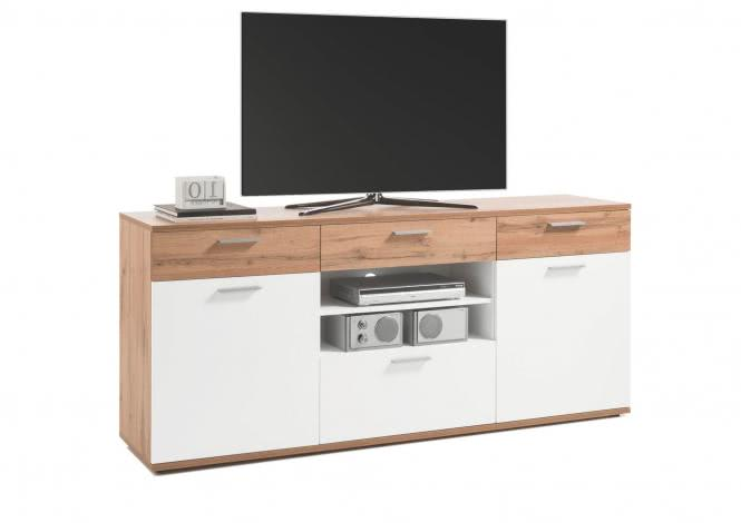 TV-Unterschrank BACKSTAGE von HBZ Wildeiche / Weiss
