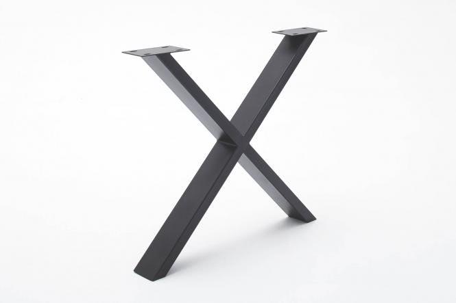 X-Fuß TIM von Elfo Möbel Metall Schwarz
