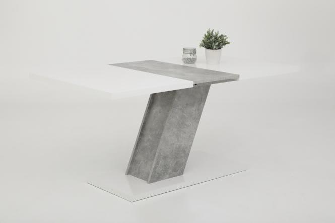 Esstisch ausziehbar ZITA III T von Hela Weiss Hgl / Beton