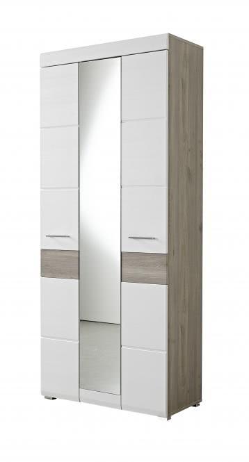 Garderobenschrank Funny von Innostyle Silbereiche/Weiß